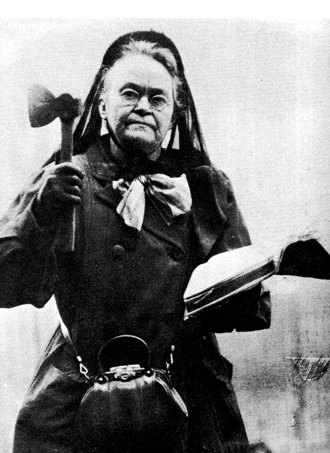 I could never be Carrie Nation because I should not be allowed sharp objects. Also, I did note when I saw this picture that I had a striking resemblance to her when I was dressed for the cemetery tour in La Crosse as Nanny Colwell.